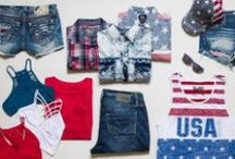 Americana / Rock your red, white, and blue pride! This American style collection is perfect for July 4th and throughout the year!