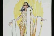 Bob Mackie / (Some pictures contain nudity.)  You want sheer, unabashed, unrestrained, old-Hollywood-as-pictured-in-old-Hollywood-movies glamour?  Then you want Bob Mackie.  Still working as late as 2009 for Pink; and Bob has a long-time relationship with a Ms. Barbara Millicent Rogers, who has modeled quite a number of his fantasial creations.