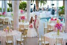 Dynamic & Tropical Wedding by Amy Abbott Events  / This beautiful Club 96 wedding was such a great collaboration of style and ideas. The bride had been dreaming of her wedding as long as she could remember, and she knew she wanted something special. Lots of bling, flowers everywhere, the perfect sunset and of course the perfect groom and she had it all.
