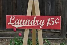 Laundry Room / What do you think about when you think of your idea laundry room? What color would it look like? What appliance's would you want in them? What kind of storage does it have available? Pin all that inspires you!