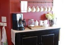 Vintage 50s Kitchen / Red with black, white, and yellow