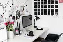 Workspace / Voor mijn eigen home office deed ik de nodige inspiratie op op Pinterest.