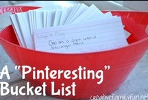 Pinterest Bucket List - The Kids / We made a bucket list of all the fun Pinterest projects we want to try. Here is our fun-for-kids version. / by Terri ~ Creative Family Fun