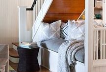 Under the stairs / Creative ways to use the space under stairs / by New England Fine Living