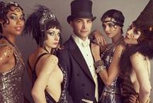 1920 Great Gatsby Party Inspiration / Boater hats, bejeweled headbands, fringed frocks, opulence and a whole lot of jazz and dancing! What a great theme for a party!