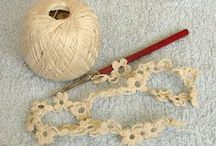 Knitting, crocheting and embroidering / Various projects. Working with yarn.
