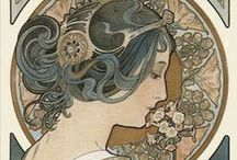 Art Noveau / Gibson Girls,Mucha,Art, 20's, La belle epoque