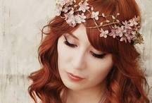hair for brides / Beautiful hair styles for brides, bridesmaids, and fancy occasions.