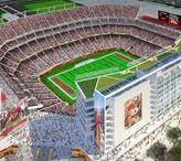 "See Levi's Stadium / The San Francisco 49ers new 68,500 seat ""Levi's Stadium"" in Santa Clara, CA is scheduled to open in August, 2014. http://levisstadium.com/"