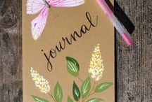 My Hand Painted Notebooks / Hand painted moleskine notebooks. Perfect for travels and keeping notes.