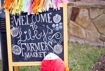 Farmers market Kid birthday / Inspiration and tips for a fun Farmers market themed kid birthday.