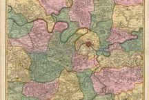 Paris France Antique Maps