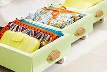 Nursery Organization 101 / Maximize your nursery space with these creative #nurseryorganization ideas to free the nursery of clutter.  #storage