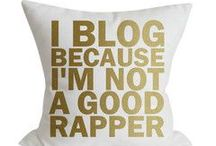 Blogs happen to good people  / Blogging info graphics and other blogging related info