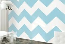Chevron Aqua/Gray : Nursery Design Inspiration / Chevron patterns in the nursery are cooler than cool.  We love the Aqua and Gray combination for girls and boys.  #ChevronPatterns are an all-time favorite for modern enthusiasts.  Some great #Chevron #nurserydecor and #babybedding for your stylish baby nursery!