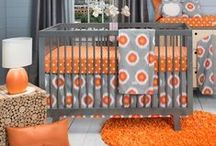 Orange Crush theme:Nursery Design Inspiration / Orange may be the new black but in your baby's nursery orange is the perfect accent color for modern and traditional nurseries alike.  Great for girls and boys, orange pops of color will keep your nursery looking fresh and bright.