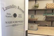 Laundry room ideas / Laundry room decor ideas
