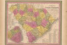 South Carolina Antique Maps