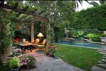Outdoor Living Inspirations  / There's just nothing like the outdoors.  An early morning cup of coffee listening to the birds, or an evening by candelight listening to the crickets, frogs and sounds of the water from the koi pond.  Total relaxation for the mind & body.   / by Kathy Tutor