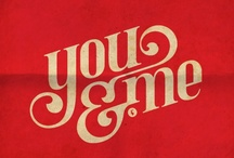 type + lettering / Typography and hand lettering and interesting type-based design, ooh la la!