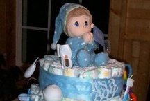 Baby Shower Diaper Cakes & Wreaths / by Debra Richter-Silnicki