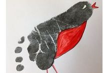 CRAFTY  IDEAS using your CHILDS HAND OR FOOTPRINTS / Create decorative cards or artwork using your child's cute hand or footprints.