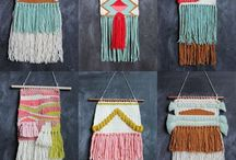 Craft | Weaving Inspiration / My favourite new hobby is weaving. Here's a collection of inspiring weaving projects and designs from around the web.