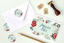 • Papeterie de Noël • / Découvrez notre collection spécial Noël : cartes de voeux, stickers, tampon encreur... / by Print Your Love Studio