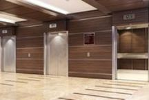 Elevators / Elevators can get pretty beat up. Good thing you can outfit your elevator interiors and lobby areas with solutions that are built to withstand the constant abuse so they stay looking good for years.