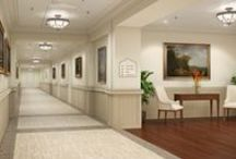 Corridors / People move through your buildings every day. Inevitably the hustle and bustle of life will leave its mark. Protect interiors and make them look good in the process so the movement can go on without making a dent.