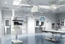 Surgery Rooms / We reduce the spots where dirt can hide with products that are non-porous, minimally and inconspicuously seamed and do not promote the growth of mold, mildew or odor-causing bacteria so surgery rooms stay clean.