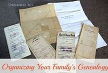Genealogy: Organization / Tips and ideas to help you organize your genealogy research.