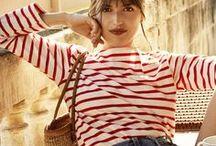 Outfits mit #Streifen - #Stripes / Inspirationen für Outfits mit Streifen - von klassisch, über sportlich und rockig, bis zu avantgardistisch oder feminin-romantisch
