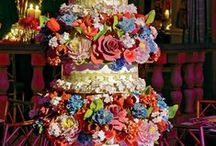 Beyond-the-norm wedding and grooms' cakes! / Cakes with as much individual personality as the bride herself!