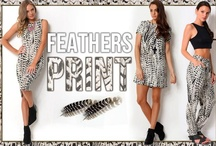 Feathers Print / Simple and Elegant Feathers Print