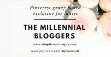The Millennial Bloggers / A Pinterest board exclusive for LADIES! Promote your latest blog posts related to FASHION, BEAUTY, BLOGGING, TRAVEL, CREATIVE CAREER, LIFESTYLE, MINIMALISM, HEALTH & WELLBEING. Make sure to support others by pinning their content as well. To get an invite, follow me on Pinterest @ByAndreaB and this board The Millennial Bloggers, send an email to andrea@simplicityinvogue.com with your Pinterest link! Tip: Vertical Pins work best! ♡ Happy Pinning! :)