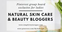 Natural Skin Care & beauty bloggers / A Pinterest group board exclusive for ladies! Promote your latest blog posts related to NATURAL / CRUELTY FREE / VEGAN SKIN CARE AND BEAUTY PRODUCTS. Make sure to support others by pinning their content as well. To get an invite, follow me on Pinterest @ByAndreaB and this board, send an email to andrea@simplicityinvogue.com with your Pinterest link! Tip: Vertical Pins work best! ♡ Happy Pinning!