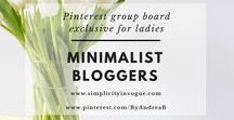 Minimalist Bloggers / A Pinterest group board exclusive for ladies! Promote your latest blog posts related to MINIMALIST FASHION AND LIFESTYLE. Make sure to support others by pinning their content as well. To get an invite, follow me on Pinterest @ByAndreaB and this board, send an email to andrea@simplicityinvogue.com with your Pinterest link! Tip: Vertical Pins work best! ♡ Happy Pinning!