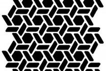 Pattern / Pattern Design, textile design, repeated shapes and tileable things!