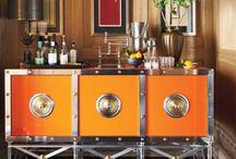 Bar carts & great bar setups