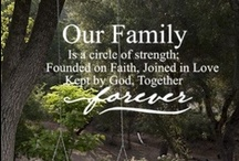 ♥ Family --- A Circle of Love ♥ / God placed each of our family members (with our own unique personalities) together to use our strengths and weaknesses to encourage and draw support from one another.  As we face the good and bad times, we develope our character as we cry, laugh, serve, and worship with each other.  Through all this, we can truly thank God.....for all the situations faced together makes our family circle stronger. My greatest blessings are my husband, children and grandchildren...a circle of love! / by Linda Kullman