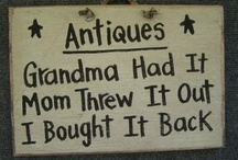 Antiques---Time Gone By..... / I  find great pleasure in antiques....especially those that belonged to my ancestors.  It brings the past to the present, and the present to the future when you continue to pass on quilts, dishes, furniture or any trinket that was meaningful to a family member.  / by Linda Kullman