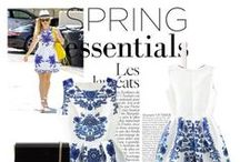 Spring Dress Outfits / Never ending outfits for spring -- featuring floral, pastel, and striped dresses galore.