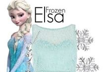 Elsa Style / The long, blonde braid. The stunning, blue gown. Frozen's Elsa has inspired many Polyvore fashionistas.