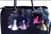 Everbril Dolls Fur Bag Charms / Everbril dolls are the cutest bag charm dolls one can have. They are made from wood, hand painted and using recycled materials, leather + fur. They are hand painted on a wooden figurine with acrylic and oil colors and finished with highly resistant mat picture varnish which protects the painting from dirt and dust.  All dolls have attached a chain + clasp to be easily hung on your favorite bag.  For international orders see my shop on etsy: https://www.etsy.com/shop/Everbril