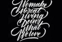 Bush Calligraphy / Lettering e idee