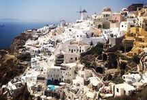 Santorini / The world famous island of Santorini is the most southern island of the Cycladic group in the Aegean Sea, and is located 63 nautical miles north of Crete. Its surface area is 73 sq. km. and its population, distributed among thirteen villages, just exceeds thirteen thousand six hundred people..  http://goo.gl/QgQVsu