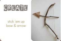 bows arrows sticks spoons