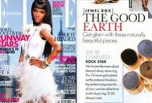 ISHARYA Press / ISHARYA jewelry featured in magazines and editorial spreads.