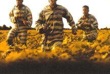 The Great Escape / prison uniform,border,stripe